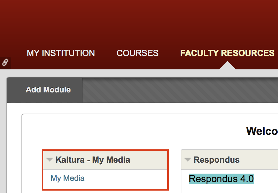 Figure 1. - Faculty Resources tab